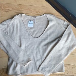 Free People cashmere v-neck sweater. New!